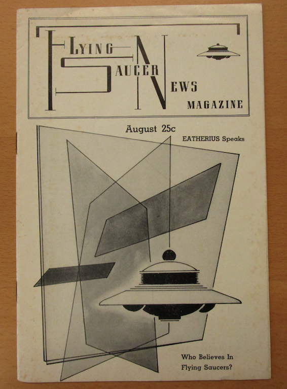 Cover of Flying Saucers News from 1956 (courtesy of the Archives for the Unexplained)