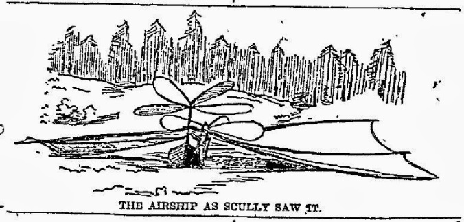 The Airship as Scully Saw it near Hawkins TX - April 17 1897