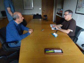 Interviewing Paolo Fiorino. (Courtesy CISU)
